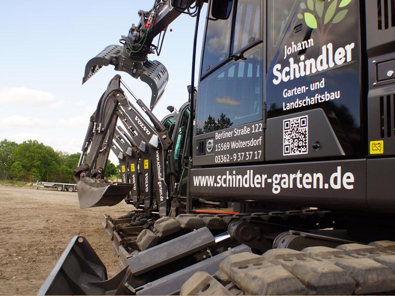 Johann Schindler Garten und Landschaftbau Erdbau Abriss Fahrzeuge